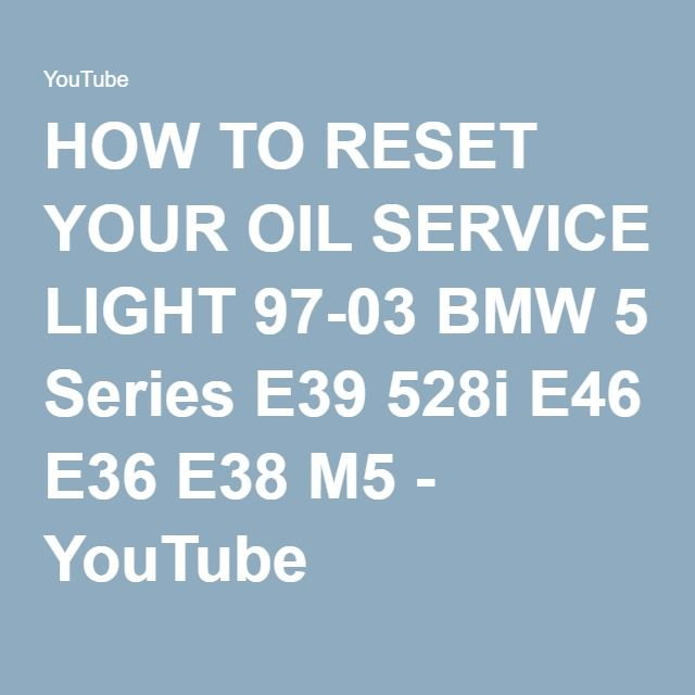 How to reset your oil service light 97 03 bmw 5 series e39 528i e46 how to reset your oil service light 97 03 bmw 5 series e39 528i e46 fandeluxe Image collections