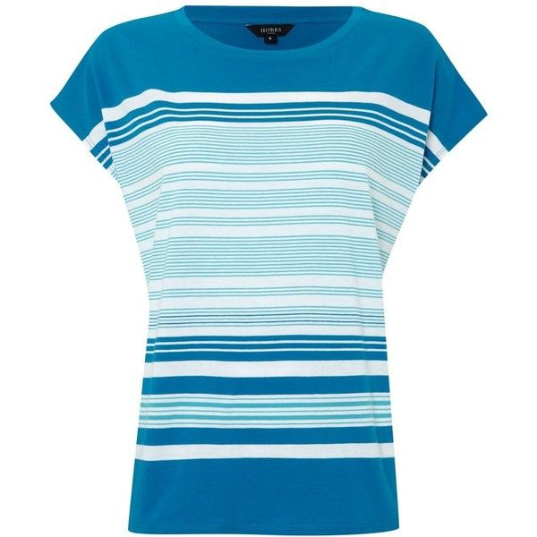 Hobbs Formentera t shirt (270 DKK) ❤ liked on Polyvore featuring tops, t-shirts, shirts, blue, women, short-sleeve shirt, short sleeve t shirts, oversized shirts, short sleeve shirts and color block t shirt