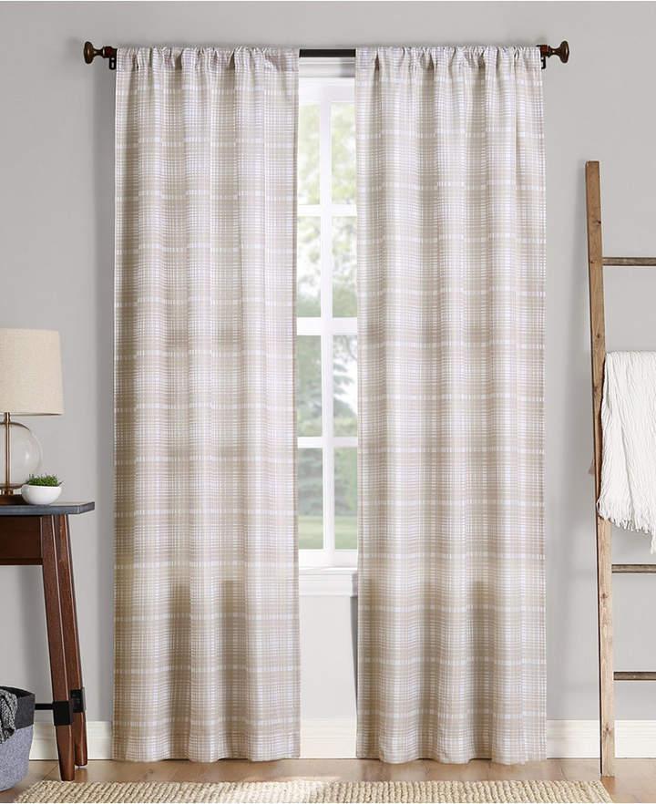 No 918 Sebastian Plaid Semi Sheer Rod Pocket Curtain Panel 40 W X 84 L In 2019 Products Curtains Rod Pocket Curtains Panel Curtains