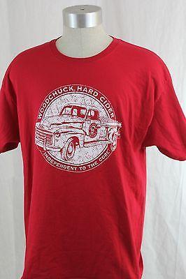 MENS-Woodchuck-Hard-Cider-XL-T-Shirt-Vintage-Pickup-Truck-GMC-1950s-Vermont