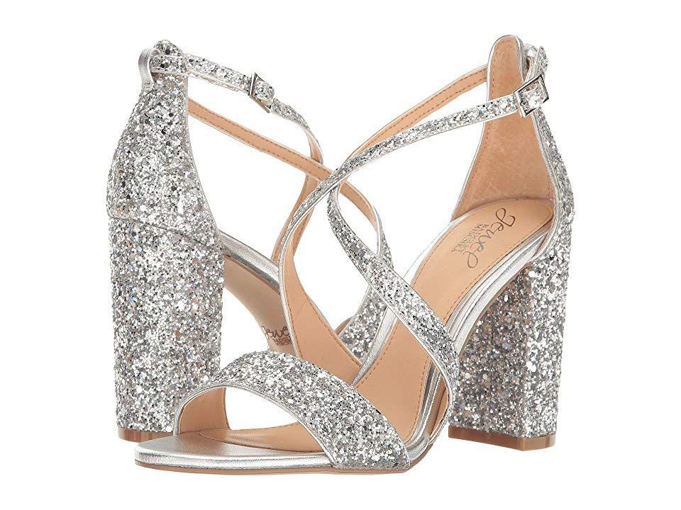 6ae209405 Jewel Badgley Mischka Cook (Silver Glitter) High Heels. Feel fabulous in  the show