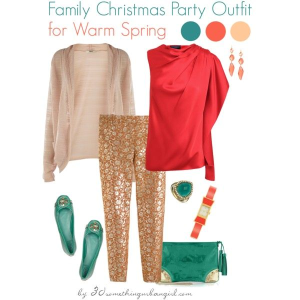 eae27ef9fc90 Family Christmas Party Outfit Holiday look for Warm Spring by  thirtysomethingurbangirl on Polyvore