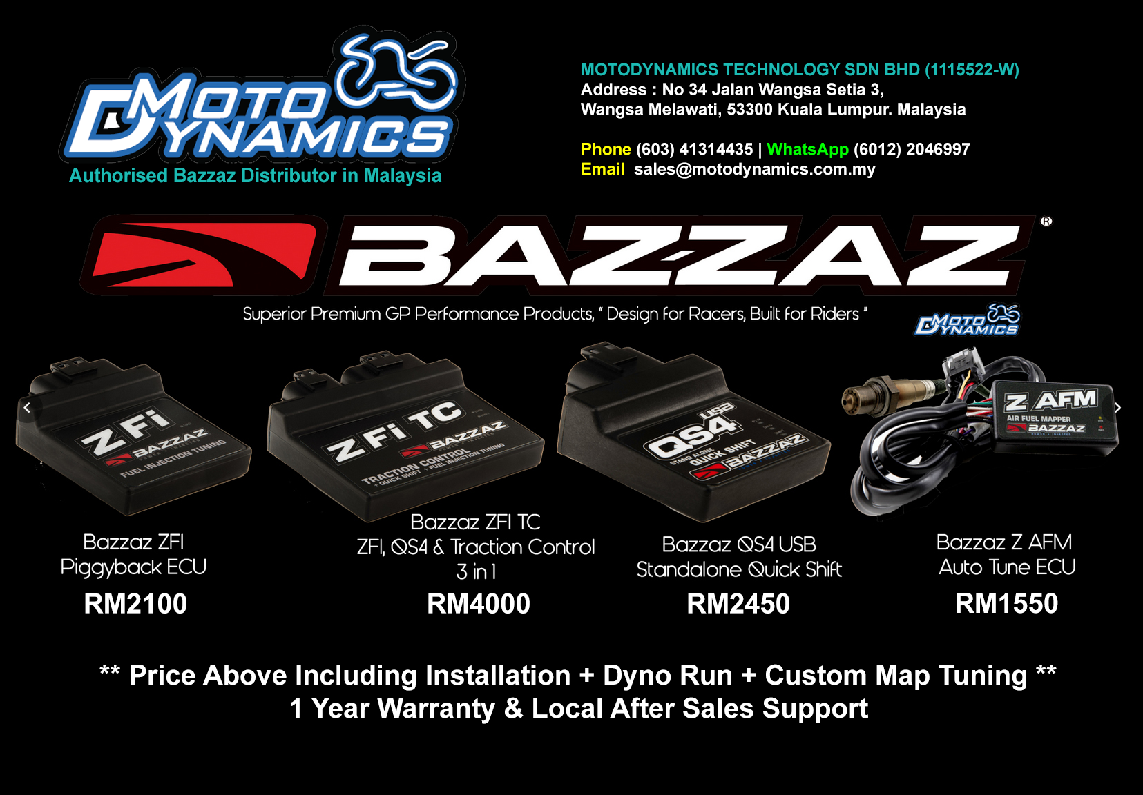 MotoDynamics Malaysia +603-41314435 specialize in DYNO and Tuning
