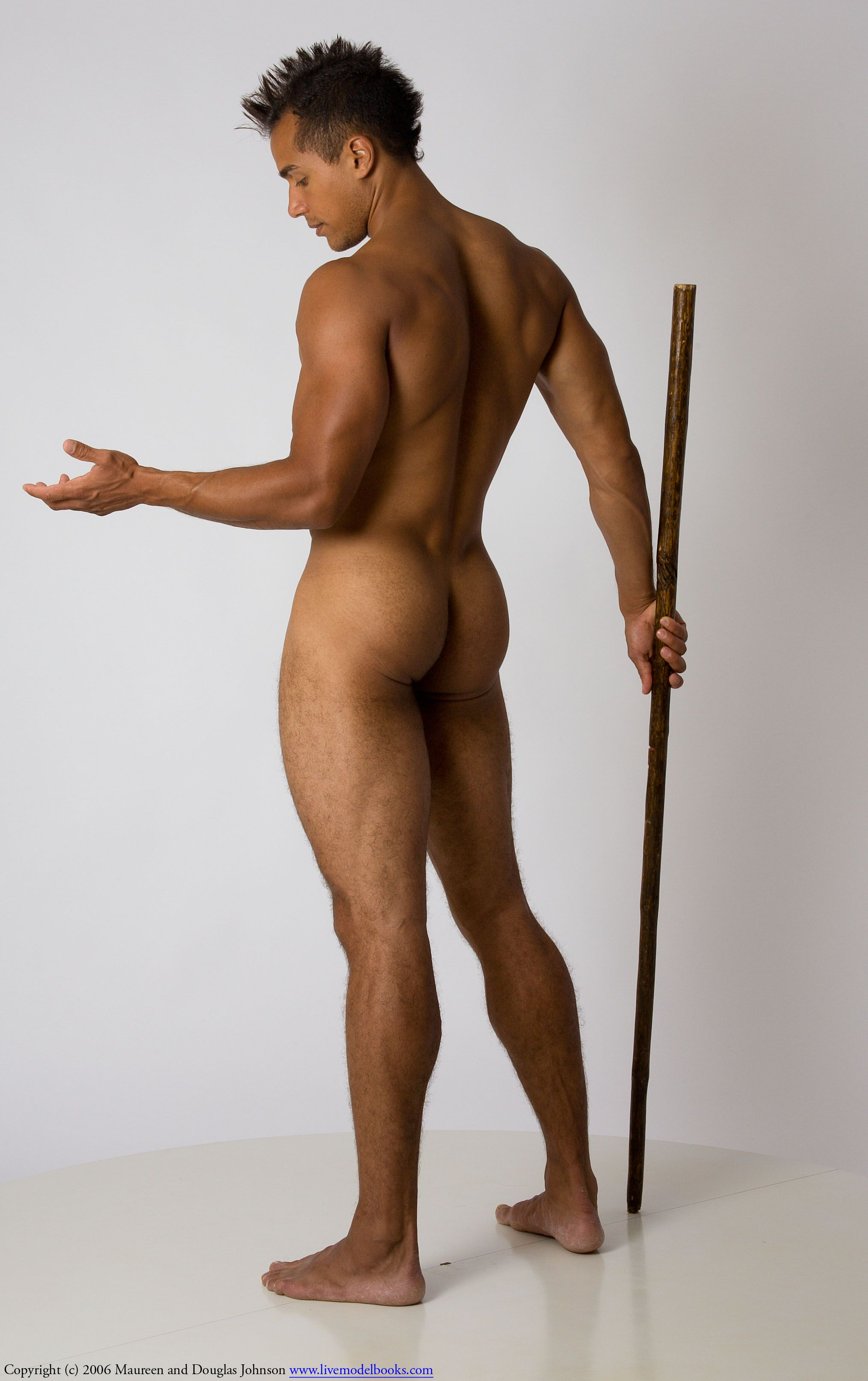 standing nude male painting poses