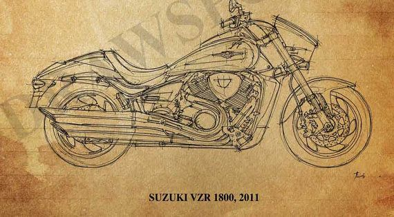 SUZUKI VZR 1800 2011 quote You don't stop riding by drawspots, $42.00