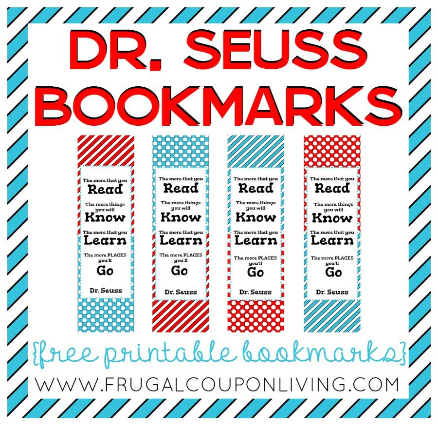 Celebrate dr seuss birthday or anyway with these free dr seuss quote - Free Printable Dr Seuss Bookmarks