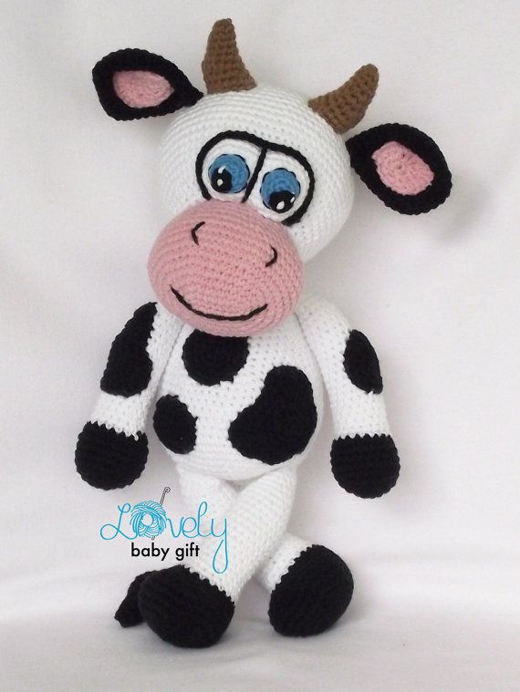 Amigurumi Pattern, Amigurumi Cow Crochet Pattern, Stuffed Animal ...