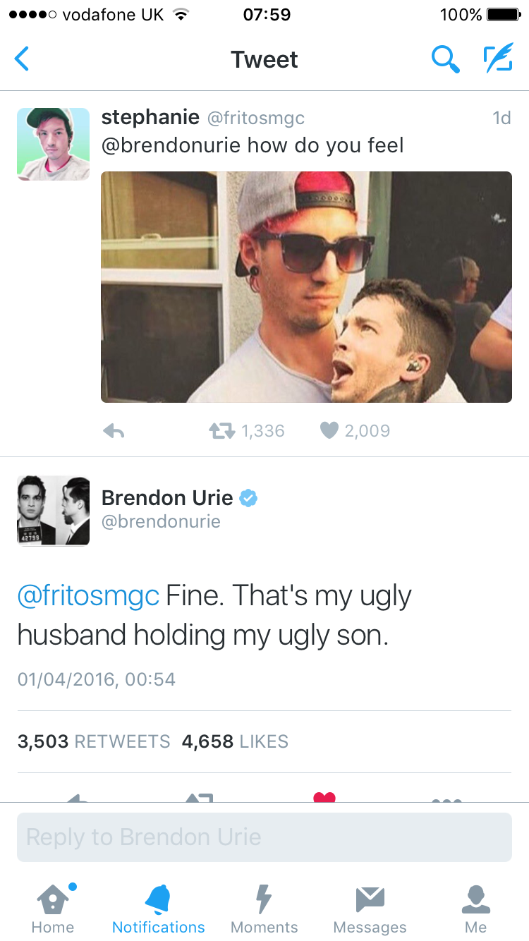 Brendon Urie speaks the truth