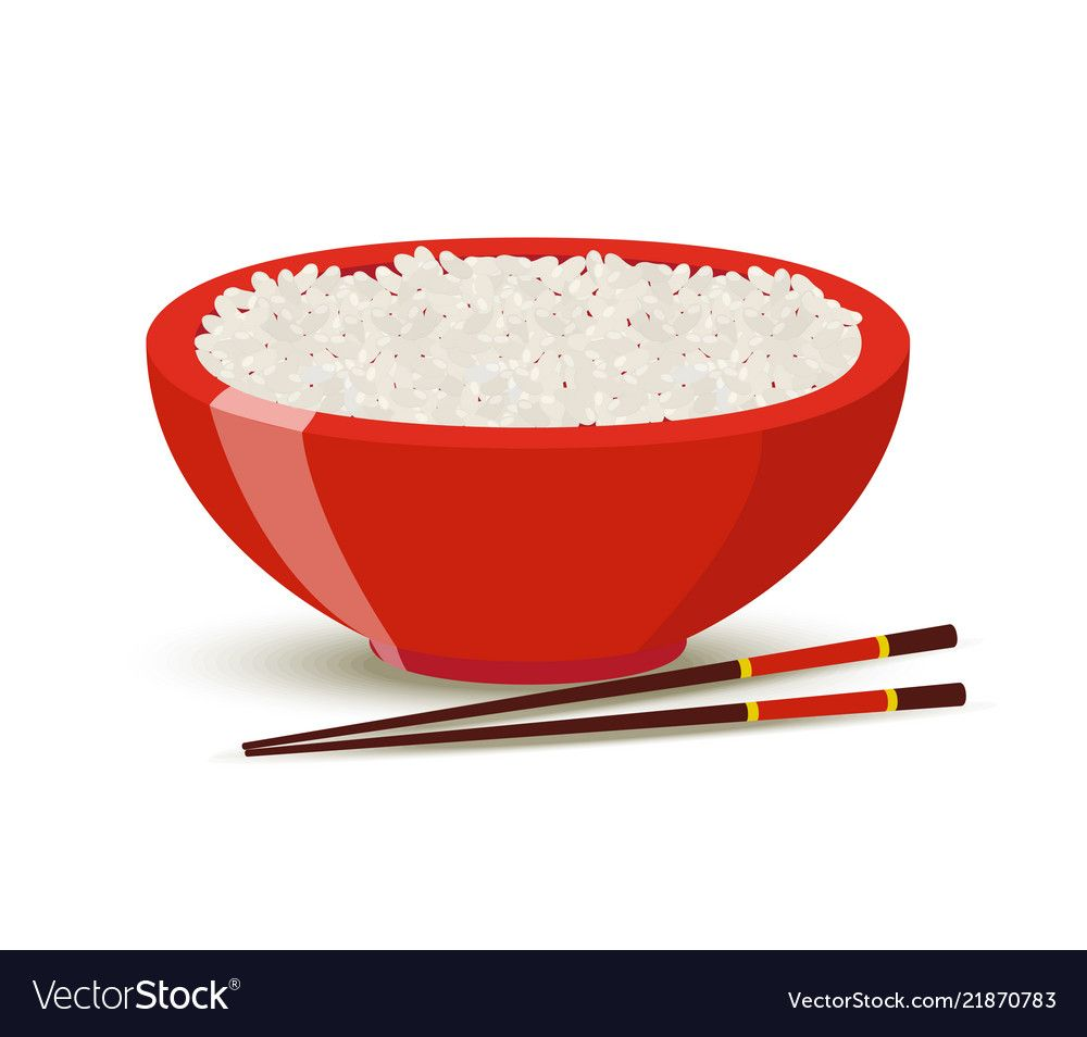 Rice In The Red Bowl With Chopstick Cartoon Vector Illustration Isolated On White Background Rice Clip Art Rice Isolated Simple Png And Vector With Transpare Ilustrasi Vektor Latar Belakang Putih Kartun