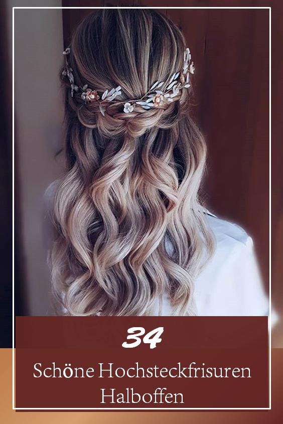 34 schöne hochsteckfrisuren halboffen   frisur
