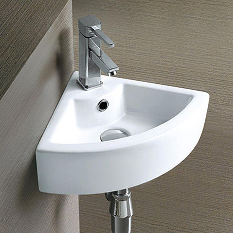 Small Bathroom Design Under Stairs: Bermuda Corner Cloakroom Basin 1TH - 325 X 325mm