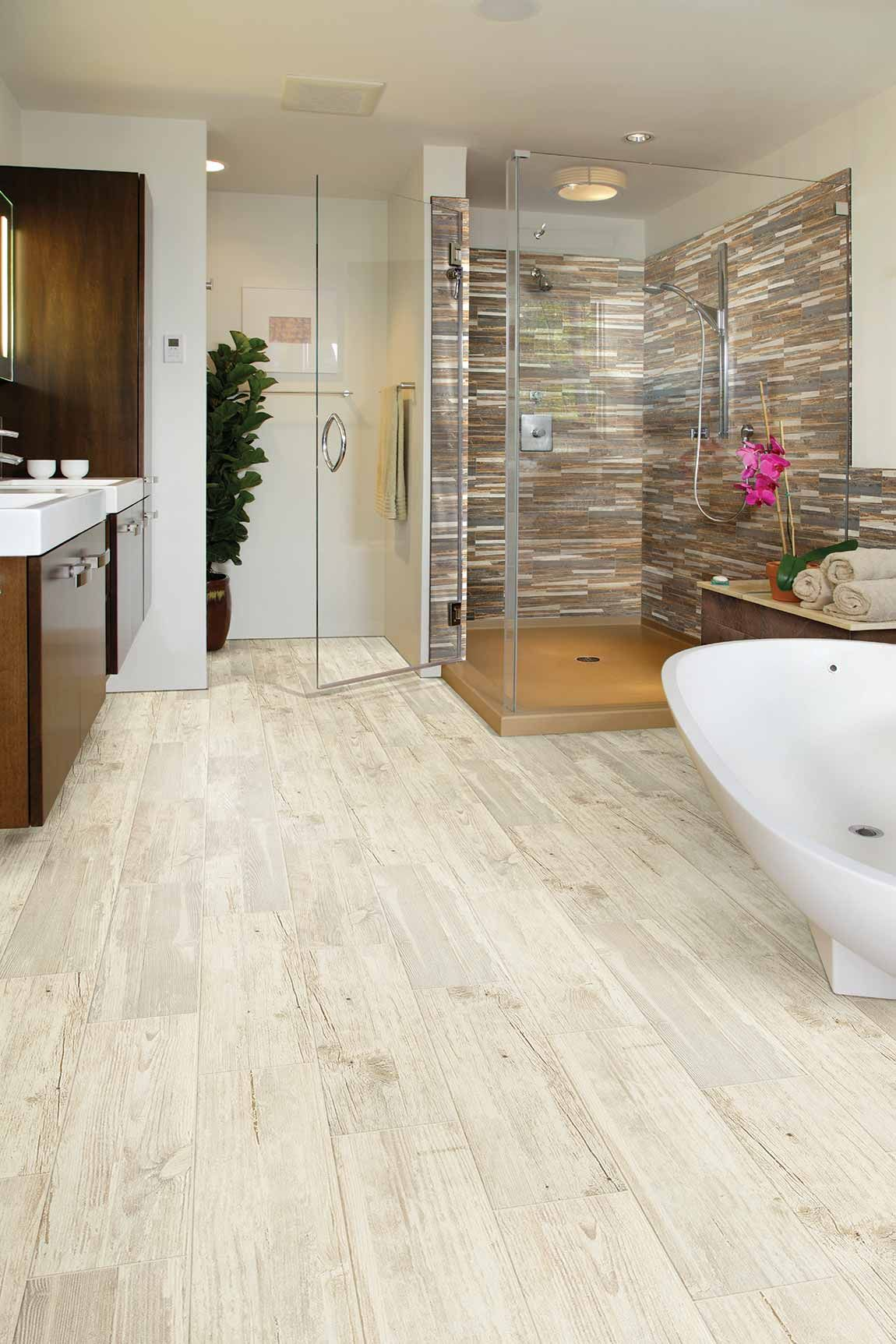 Minimalist Home Design Styles Are On The Rise Given This Less Is More Approach Designers Are Only Select Wood Look Tile Floor Tile Design Bathrooms Remodel