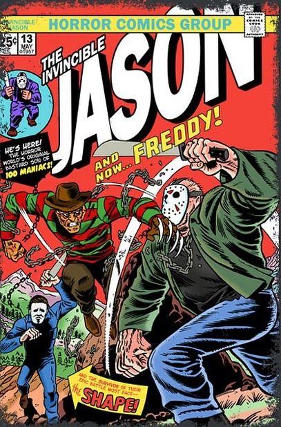 The Invincible Jason Cartazes De Filmes De Terror Filmes De