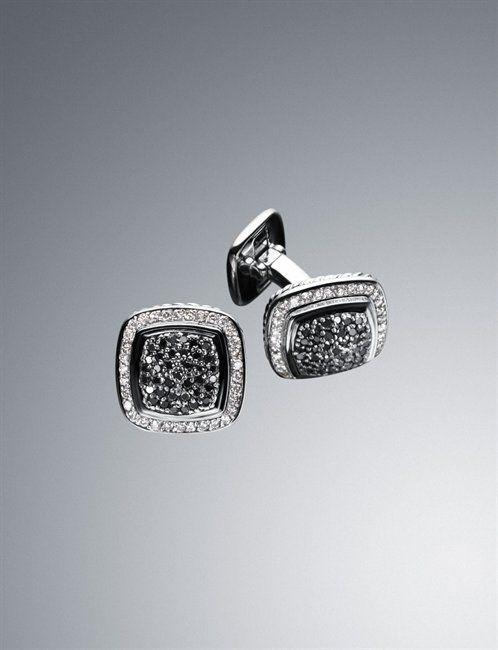 David Yurman - Black Diamond Albion Cuff Links