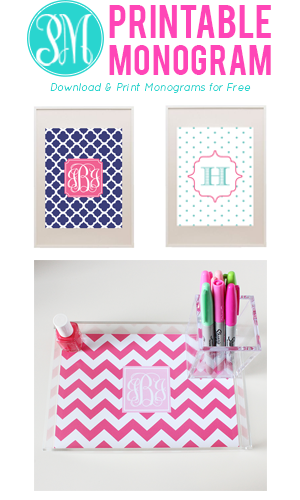 Free Printable Monograms Free Printable Party Decorations
