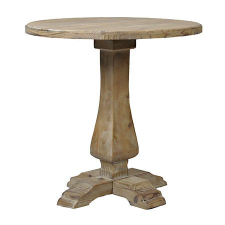 Product Details Natural Wooden Round Pedestal Accent Table
