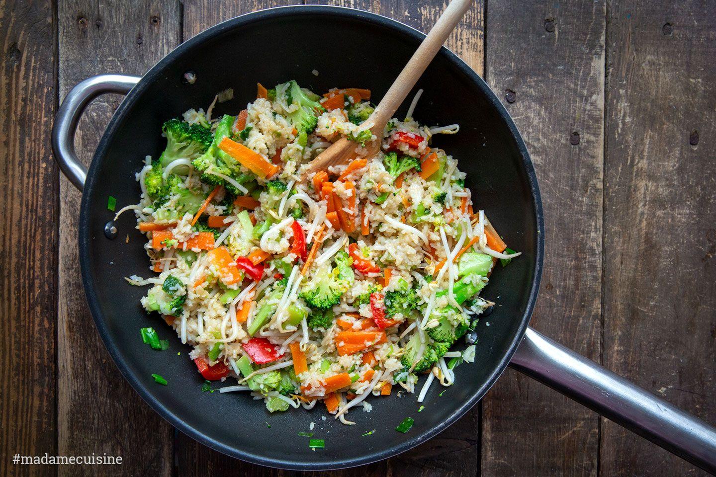Asia Bratreis mit knackigem Gemüse   Madame Cuisine   Gebratener ...