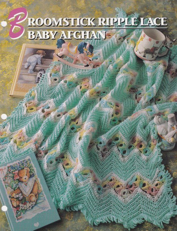 Annie/'s crochet pattern leaflet Teal Circles Afghan