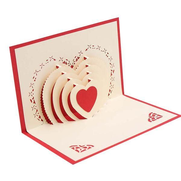3d Pop Up Heart Greeting Card Wedding Cards Handmade Pop Up Card Templates Pop Up Greeting Cards