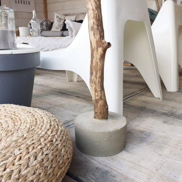 New DIY lamp. Detail beton voet | Thuis @EY68