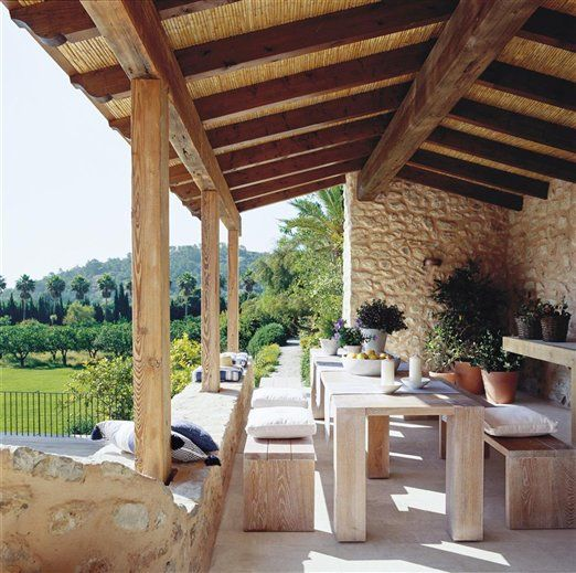 Estos arcos s son un triunfo jardines y terrazas - Terrazas de madera rusticas ...