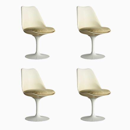 Drehbare Tulip Chairs Von Eero Saarinen Für Knoll, 1960er, 4er Set Jetzt  Bestellen Unter