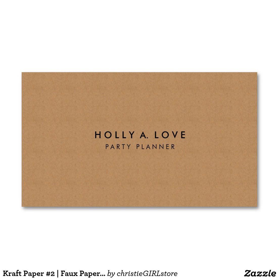 Kraft Paper 2 Faux Paper Texture Customizable Business Card Zazzle Com Paper Texture Customizable Business Cards Kraft Paper