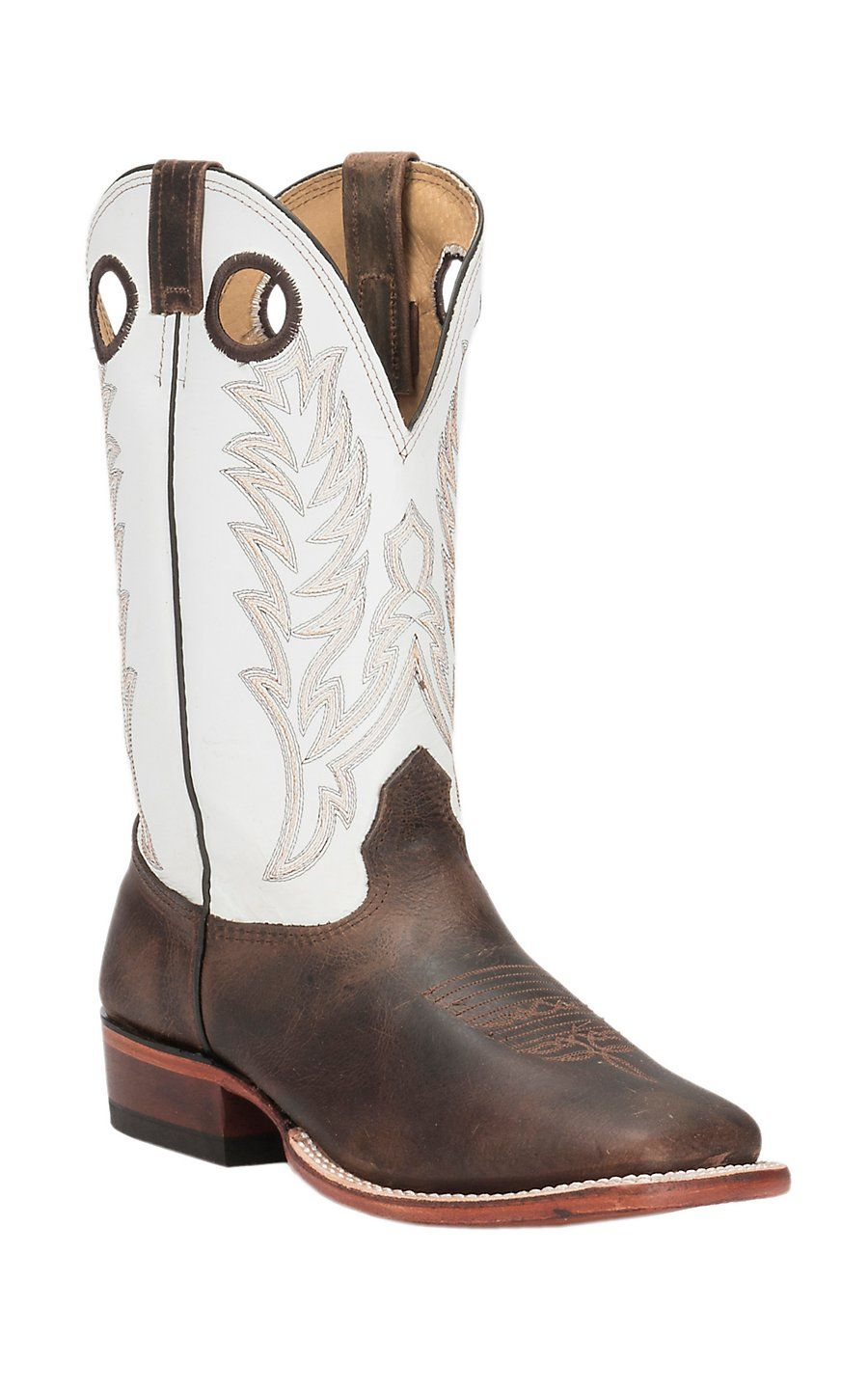 87bd80ca1ee Cavender's Men's Chocolate Rowdy with White Top Double Welt Square ...