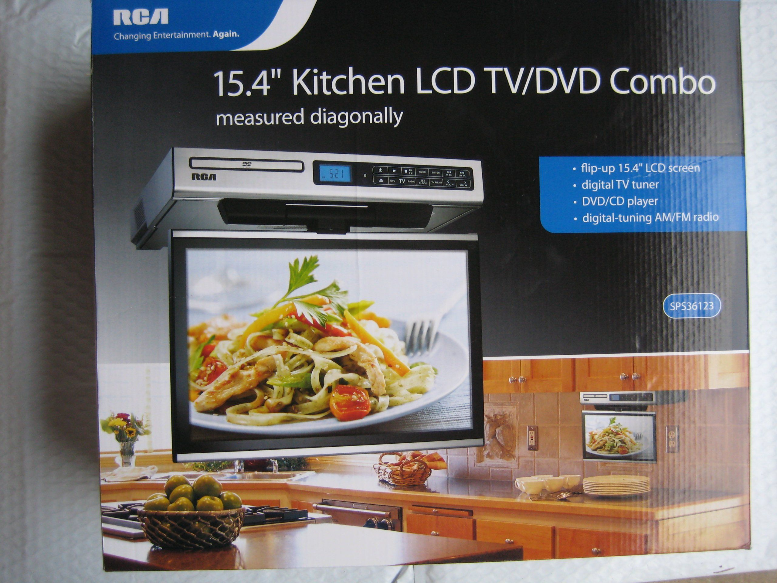 Rca Kitchen Lcd Tv Dvd Combo 15 4 Quot Under Cabinet Tv In Kitchen Under Cabinet Tv Lcd Tv