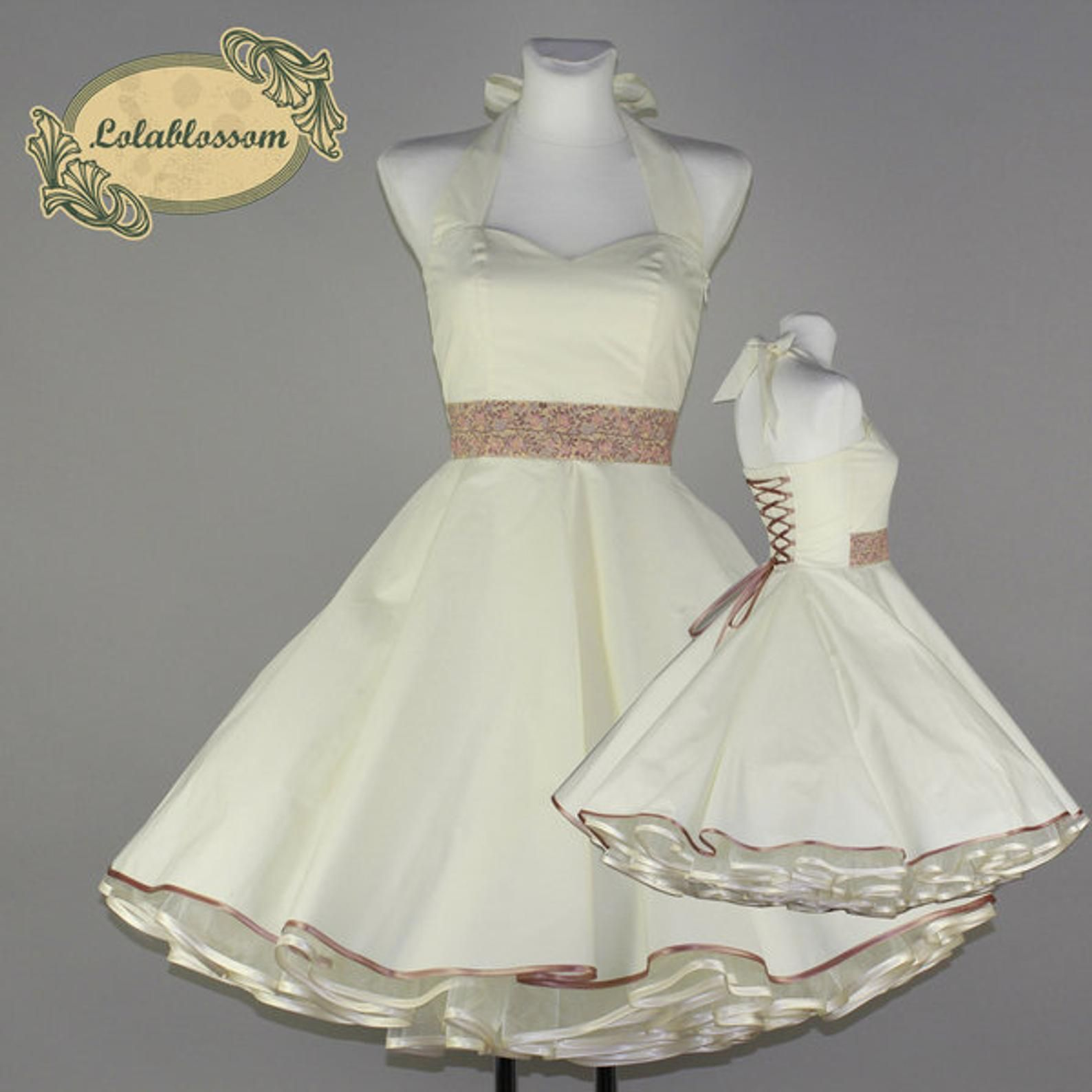 Creme Hochzeitskleid rosa Jacquard Borte #79   Creme ...