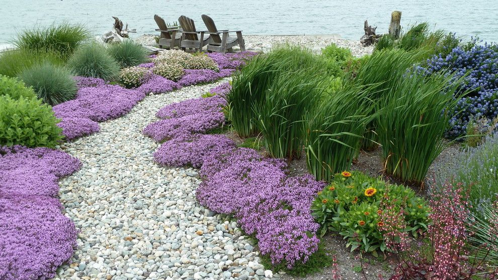 Beach garden path seattle traditional landscape for Landscaping rocks seattle