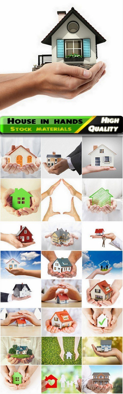 Trade in real estate and house in hands - 25 HQ Jpg