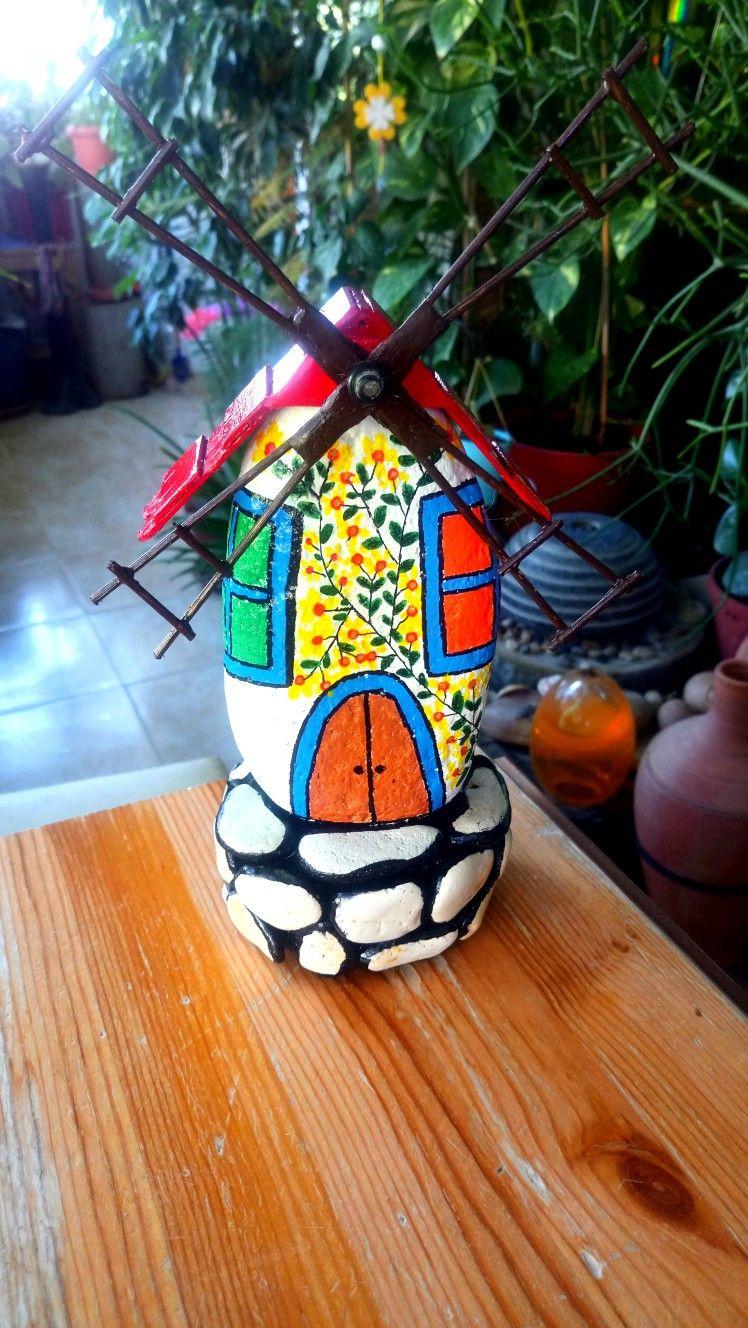 Yel Değirmeni Taş Boyama Pinterest Christmas Ornaments