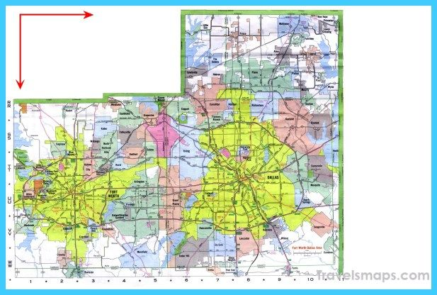 Dallas And Fort Worth Map on
