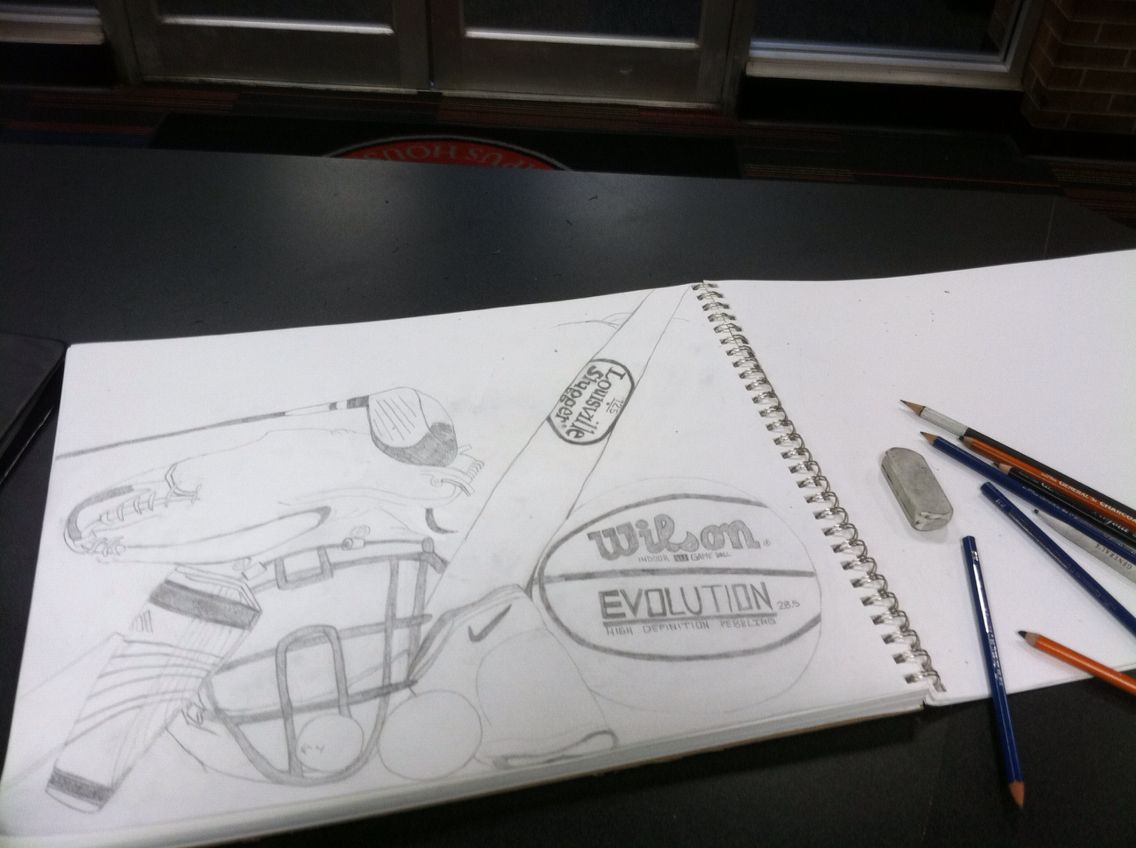 An Athletes closet. I made this for my art portfolio to be accepted into the art program.
