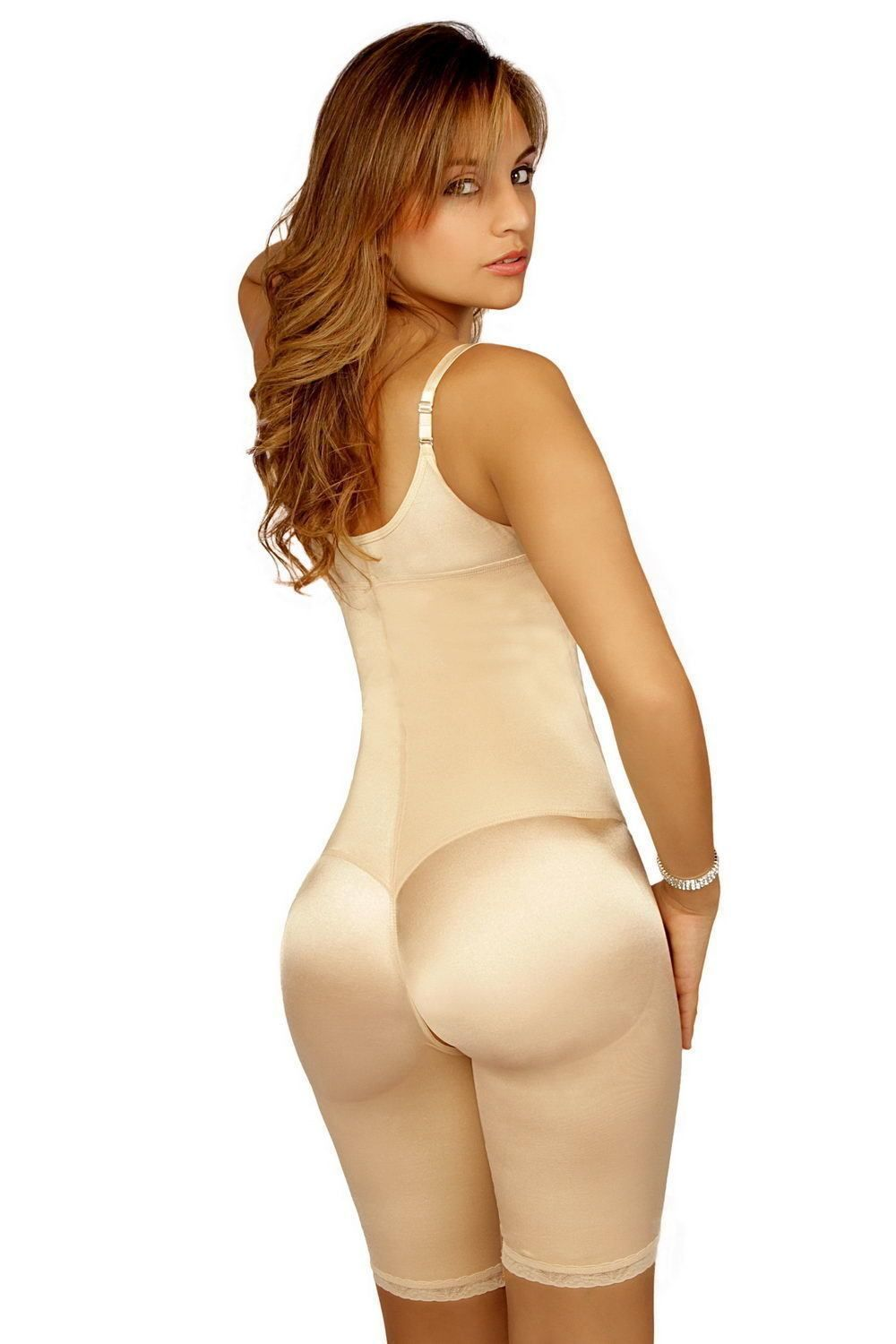 FAJA COLOMBIANA VEDETTE RE//104 Firm//Compression Mid-Thigh Full Body Shaper Mujer