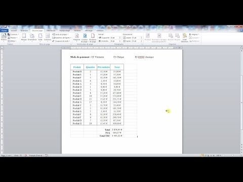 Inserer Un Tableau Excel Dans Un Document Word Informatique Science Technologie Activite Manuelle