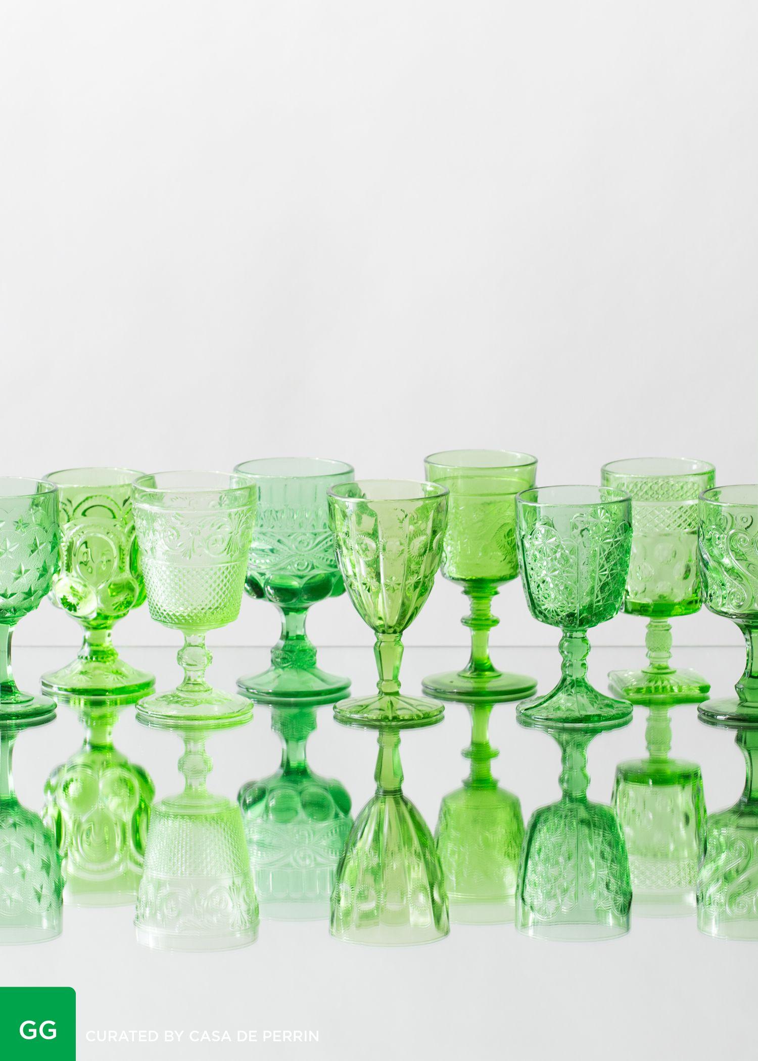 Green Goblets // Casa de Perrin