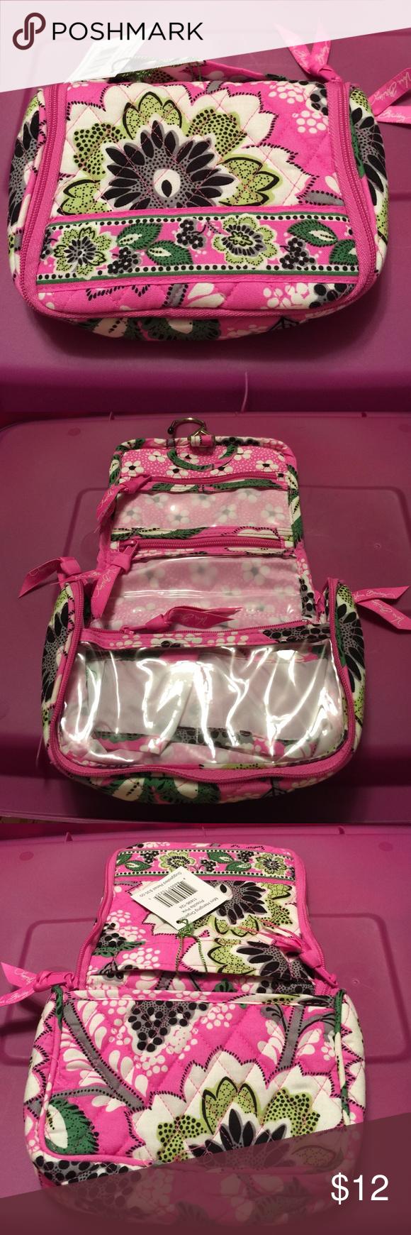 Vera Bradley mini hanging organizer Priscilla pink Hanger 2 slip pockets 3 zip pockets Vera Bradley Accessories