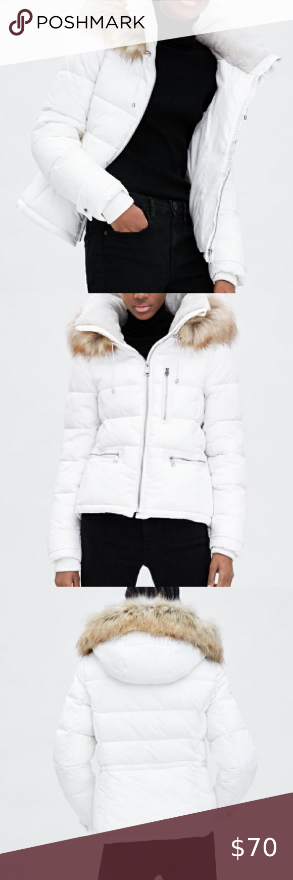 Nwt Zara Water Resistant Puffer Jacket Hood Size S Long Puffer Coat Coats Jackets Women Puffer Jackets [ 1740 x 580 Pixel ]