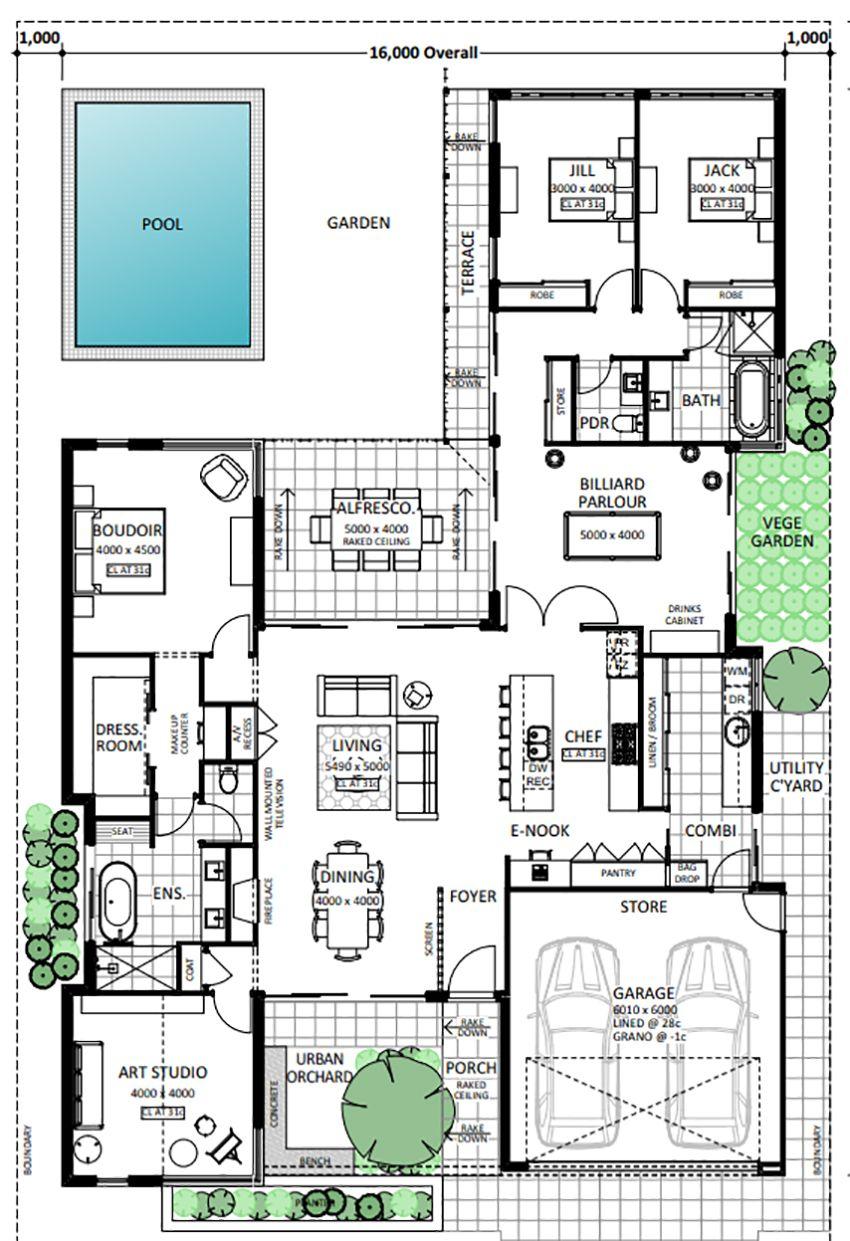 Floor Plan Friday Front porch pool enook