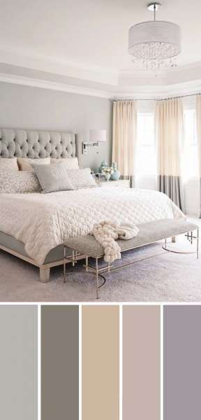 Photo of 20 Beautiful Bedroom Color Schemes ( Color Chart Included )