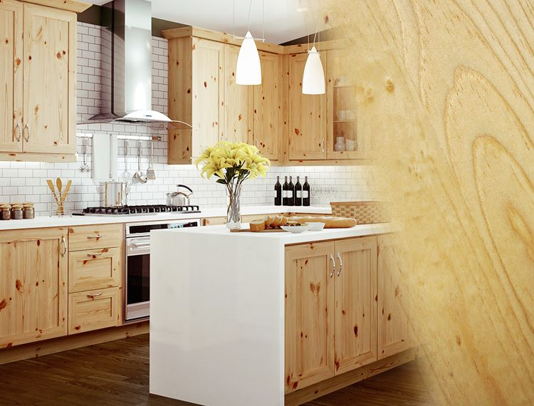 Rustic Pine is full of character, with knots of random sizes ...