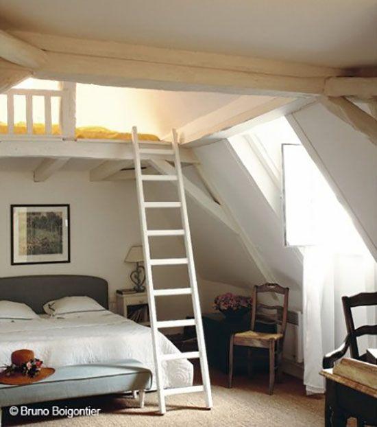 30 Idees Pour Amenager Ses Combles Chambre Loft Chambre