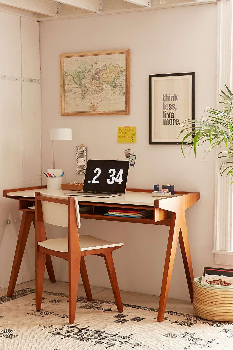 henrick desk urban outfitters uohome home desk. Black Bedroom Furniture Sets. Home Design Ideas