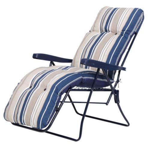 Cool Padded Garden Reclining Chair Blue Stripe Ideas For Beach Customarchery Wood Chair Design Ideas Customarcherynet