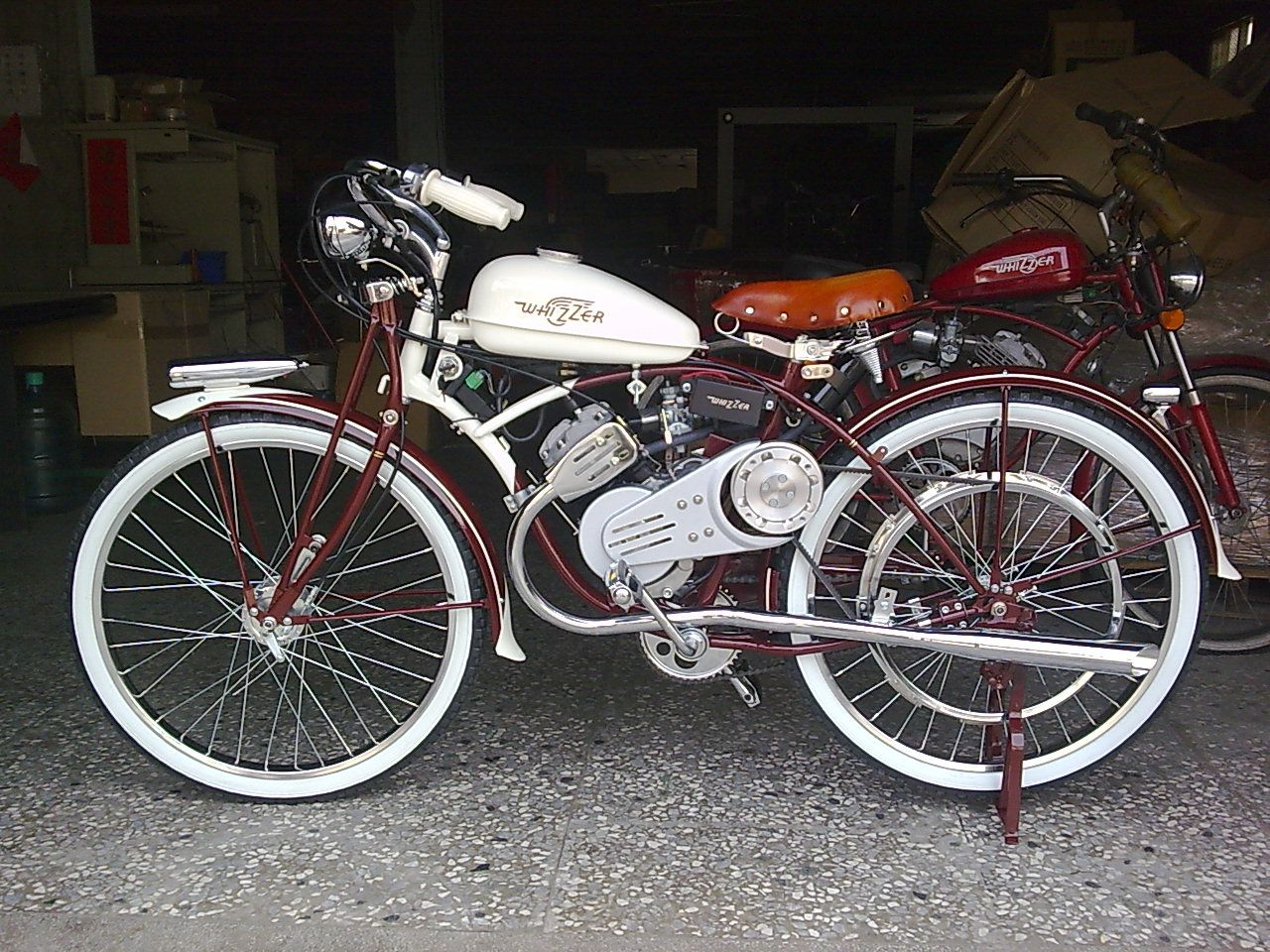 Custom made home built whizzer bike 12 custom bikes for Custom motorized bicycles parts