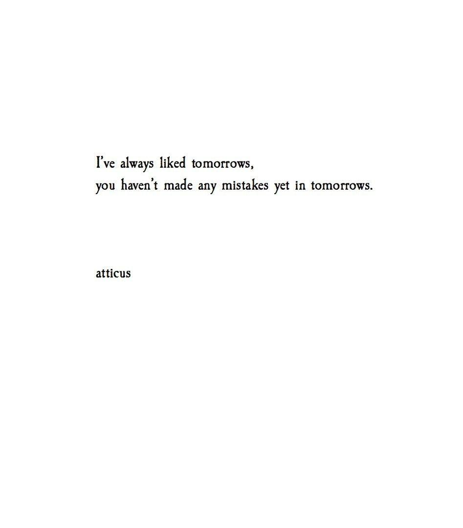 Tomorrows Atticuspoetry Atticuspoetry  Jess    Poem