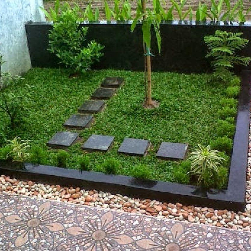 25 Contoh Taman Depan Rumah Minimalis Lahan Sempit | Desain Taman Kecil,  Taman Kecil, Ide Berkebun