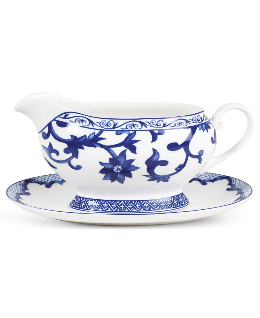 Lauren Ralph Lauren Dinnerware, Mandarin Blue Gravy Boat with Tray
